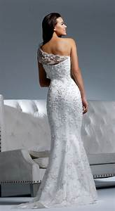 Picture of chic and romantic one shoulder wedding dresses for One shoulder wedding dress