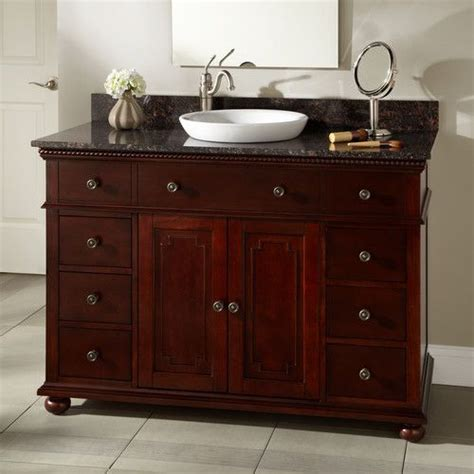 thayer vanity semi recessed sink left offset faucet