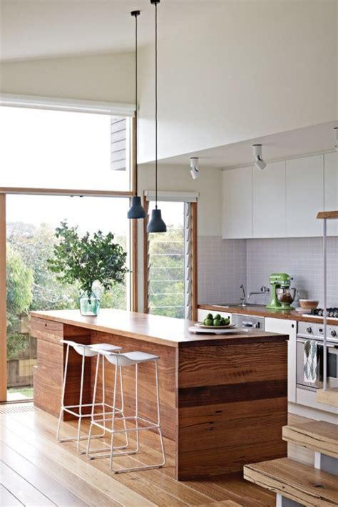 ilot bois cuisine cuisine avec îlot central 43 idées inspirations