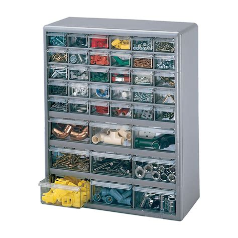 Stackon Multidrawer Storage Cabinet — 39 Drawer, 14 7
