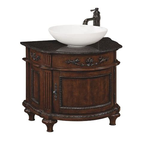 style selections  vinton sienna vessel single sink