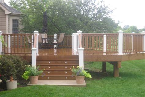 deck cary hours trex 174 deck with stair lighting cary rock solid builders