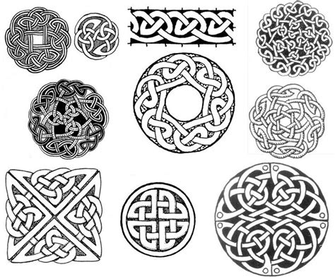 Celtic circle and square knot designs. | Celtic tattoo ...