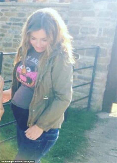 geri horner on instagram pregnant geri horner hides baby bump in new instagram