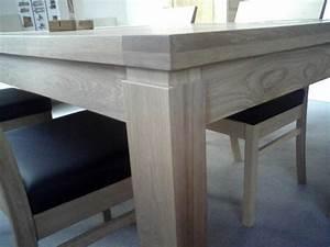 Table Bois Blanchi : comment faire du chene blanchi table de lit ~ Teatrodelosmanantiales.com Idées de Décoration