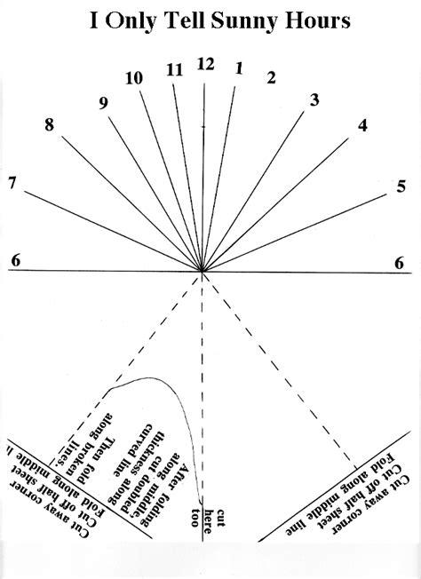 sundial template the sundial lesson plan 4