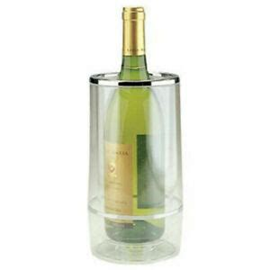 There is an option to switch the sparkles on and off. Transparent Wine Cooler Double Wall Acrylic Bottle/Drink ...