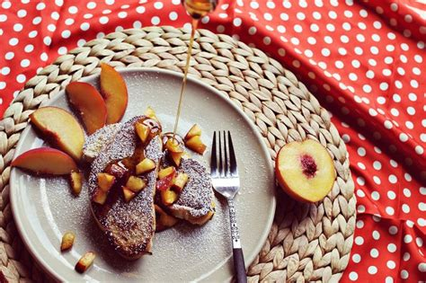 Peaches Cream Stuffed French Toast Recipe
