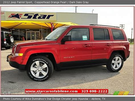 orange jeep patriot copperhead orange pearl 2012 jeep patriot sport dark