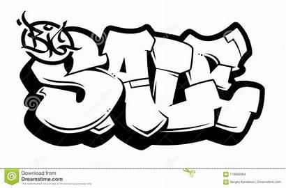 Graffiti Vector Lettering Words Bubble Background Urban