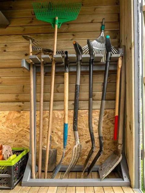 organize large gardening tools  ideas  diy storage solutions