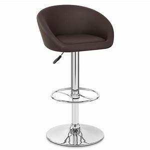 Chaise De Bar : tabouret de bar cuir chrome zenith monde du tabouret ~ Farleysfitness.com Idées de Décoration