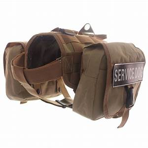 Tactical Military Police K9 Compact Dog Vest Harness Label