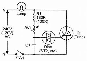triac simple ac power switch with inductive load and c1 r2 With triac circuit