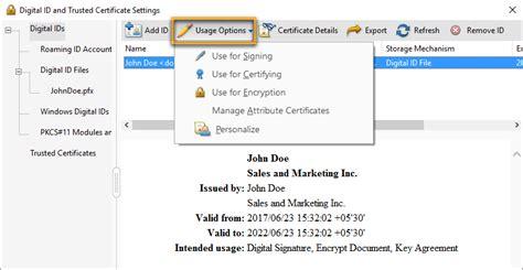 manage digital ids  acrobat