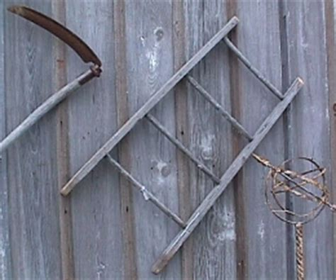 Rustic Vintage Rung Small Wood Ladder