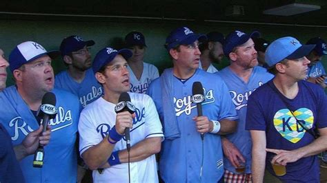 eric stonestreet royals bos kc rudd riggle on charity softball royals youtube