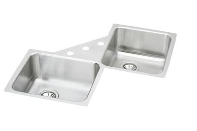 undermount corner kitchen sinks stainless steel elkay avado eluh3232 undermount corner stainless steel sink 9538
