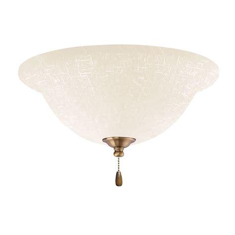 emerson ceiling fans lk77ledab white linen antique brass