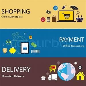 Global Wohnen Online Shop : online internet shopping payment delivery concept flat ~ Bigdaddyawards.com Haus und Dekorationen