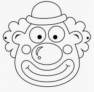 Clowns free printable coloring masks or templates oh my for Clown mask template