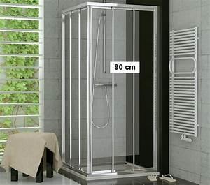 Duscholux Schiebetür 3 Teilig : duschabtrennung eckeinstieg 70 x 90 schiebet r glas oder kunststoff ~ Orissabook.com Haus und Dekorationen