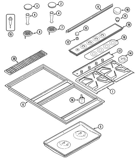 jenn air cooktop parts jenn air cooktop parts model cvgx2423b sears partsdirect