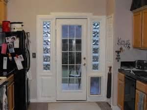French Doors with Doggie Door Built In