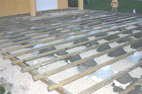 terrasse composite sur plot beton nos conseils