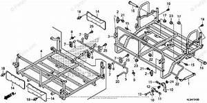 Honda Side By Side 2018 Oem Parts Diagram For Bed