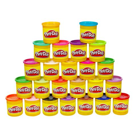 play doh 24 pots new play doh 24 pack of colors creative children play time free shipping ebay