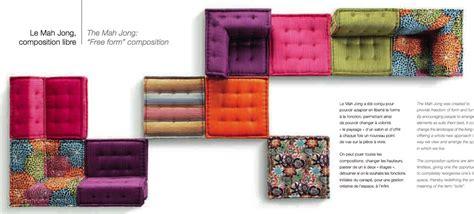 canape mah jong roche bobois sofa mah jong of hans hopfer edited by roche bobois to 40 years by design