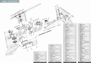 Myrcvision Com  U2014 Walkera V500d01 Model 2 Parts Diagram