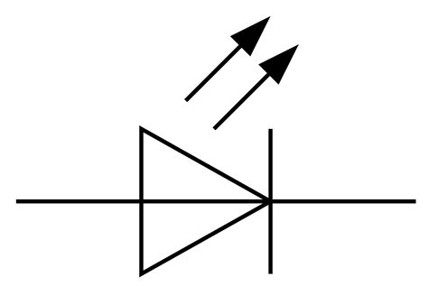 led symbol in circuit clipart best
