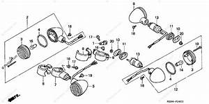 Honda Motorcycle 1995 Oem Parts Diagram For Turn Signal