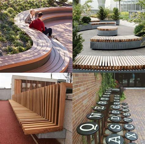 bangku taman bunga  tengah kota berbentuk berikut