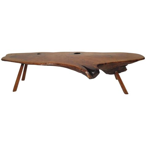 mid century modern coffee table for sale mid century modern live edge coffee table for sale at 1stdibs