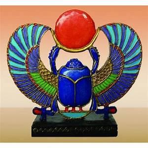 Khepri Winged Scarab 2 25 Inch Small Egyptian Statue