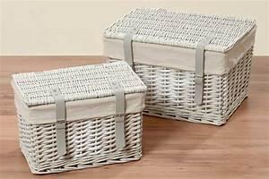 Shabby Chic Truhe : truhe rattan shabby chic weidenkorb mit deckel korbtruhe aufbewahrungsbox ~ Sanjose-hotels-ca.com Haus und Dekorationen