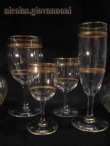 Service De Verre En Cristal : service 60 verres filets or baccarat cristal catalogue cristal de france nicolas ~ Teatrodelosmanantiales.com Idées de Décoration