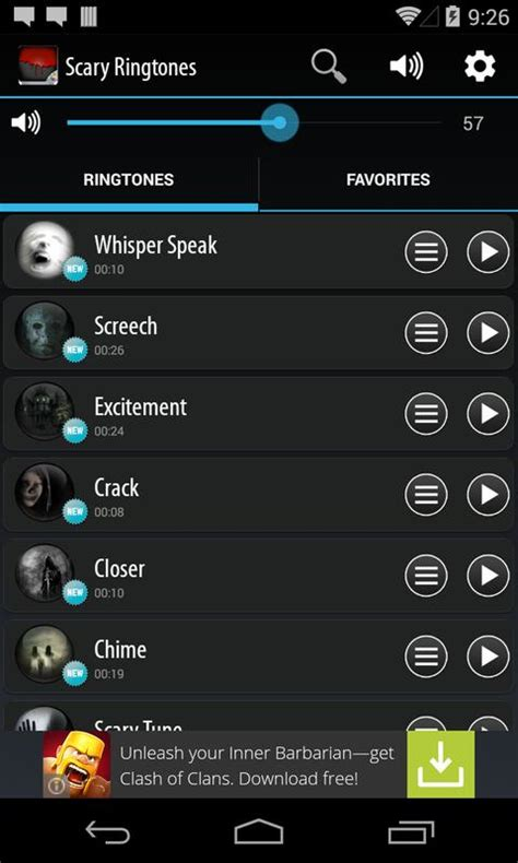 scary ringtones apk free entertainment app for