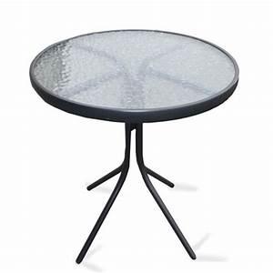 Table Verre Ronde : plateau verre table ronde table de lit ~ Teatrodelosmanantiales.com Idées de Décoration