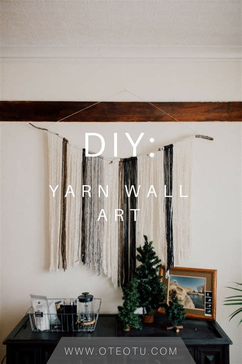 drawing decoration 25 best ideas about yarn wall hanging on diy Wall
