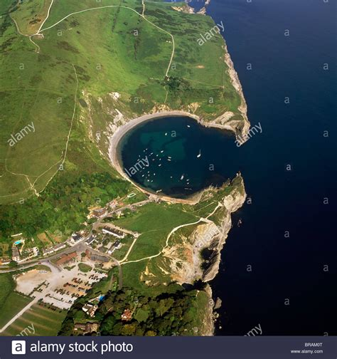 Boat Covers Dorset by Aerial Image Of Lulworth Cove A Landform Harbour