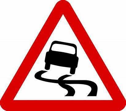 Warning Signs Road Sign Slippery Svg Mauritius