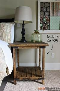 25, Diy, Side, Table, Ideas, With, Lots, Of, Tutorials, 2017
