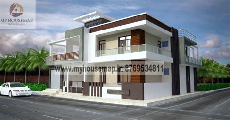 front elevation design house map building design
