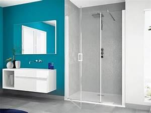 Smart porte centrale sans seuil douche parois kinedo for Porte douche sans seuil