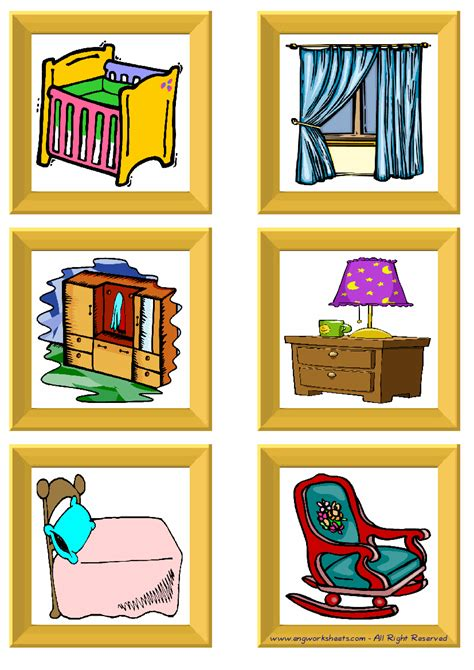 furniture esl printable picture english dictionary