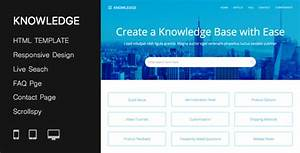 Responsive Knowledge Base FAQ HTML Template By PressApps